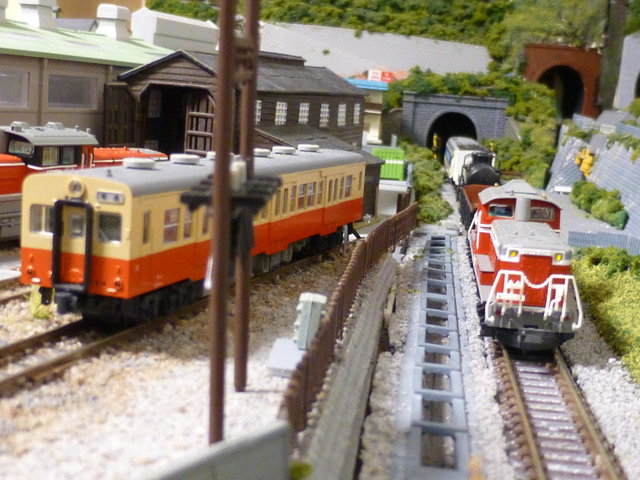 Layout: local line to rear of train depot